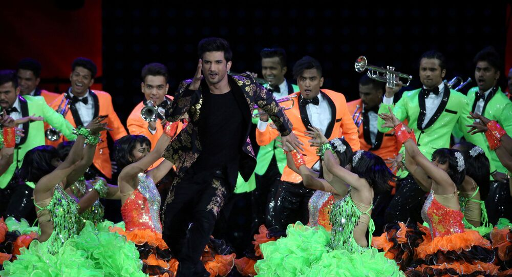 FILE PHOTO: Bollywood actor Sushant Singh Rajput (centre) performs at the International Indian Film Academy Awards in East Rutherford, New Jersey, U.S., July 15, 2017