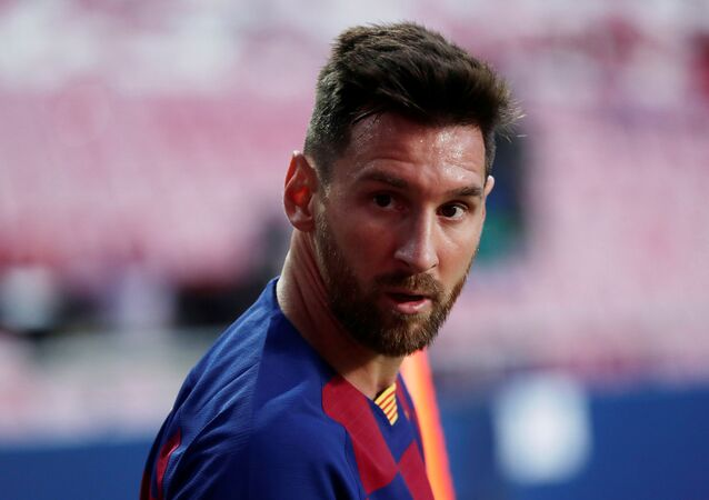 Barcelona's Lionel Messi, as play resumes behind closed doors following the outbreak of the coronavirus disease (COVID-19)