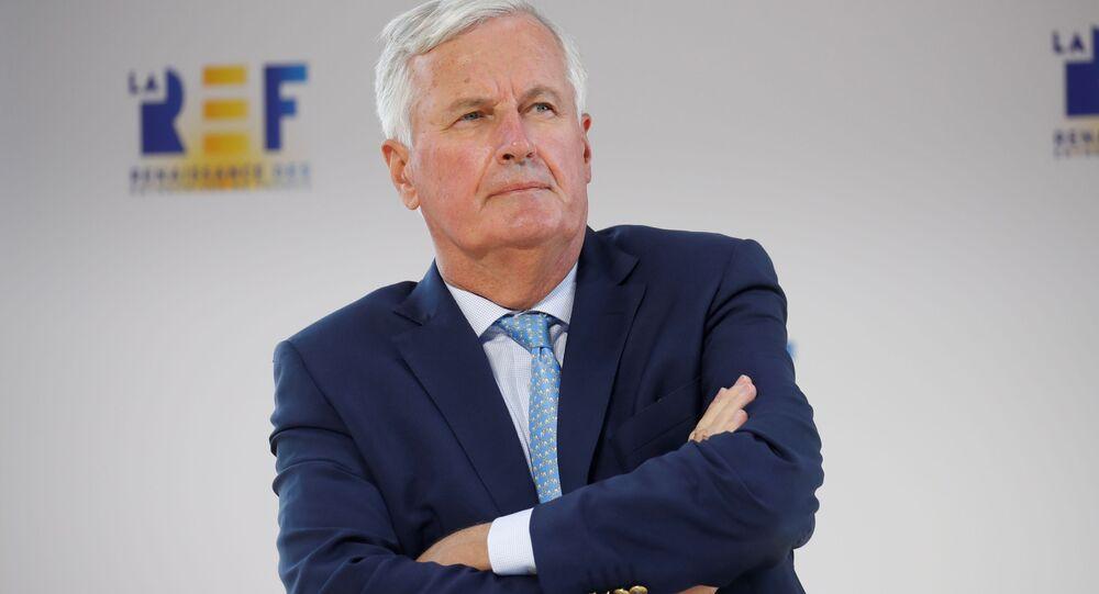 EU's Brexit negotiator Michel Barnier attends the MEDEF union summer forum La Rencontre des Entrepreneurs de France, LaREF, at the Paris Longchamp Racecourse in Paris, France, August 26, 2020
