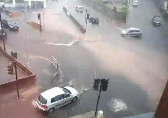 Plymouth flood