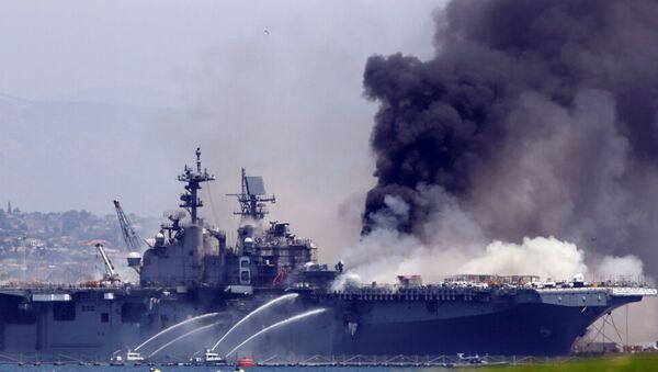 Sailor Investigated for Arson in U.S.S. Bonhomme Richard Fire - Sputnik International