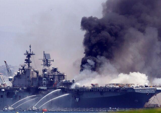 Sailor Investigated for Arson in U.S.S. Bonhomme Richard Fire