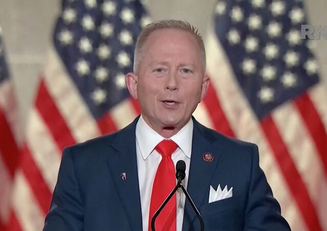 Representative Jeff Van Drew (R-NJ) speaks during the largely virtual 2020 Republican National Convention broadcast from Washington, U.S., August 27, 2020