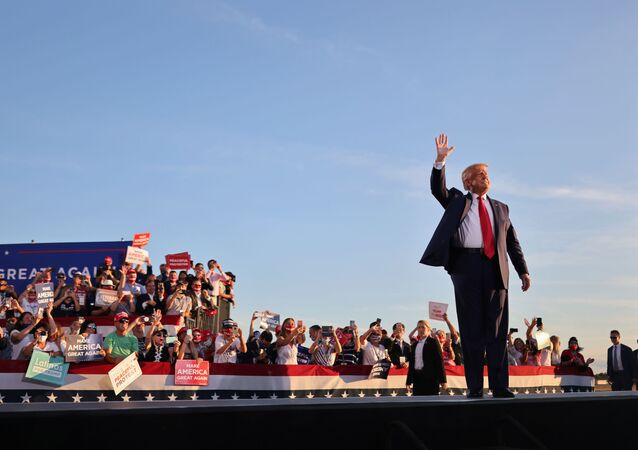 U.S. President Donald Trump holds a campaign rally in Manchester, New Hampshire, U.S., August 28, 2020