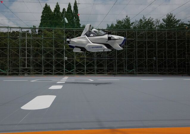 A manned flying car SD-03 is seen during a test flight session at Toyota test field in Toyota, central Japan, in this handout photo taken in August 2020 and released by SkyDrive/CARTIVATOR 2020, and obtained by Reuters August 29, 2020. SkyDrive/CARTIVATOR 2020
