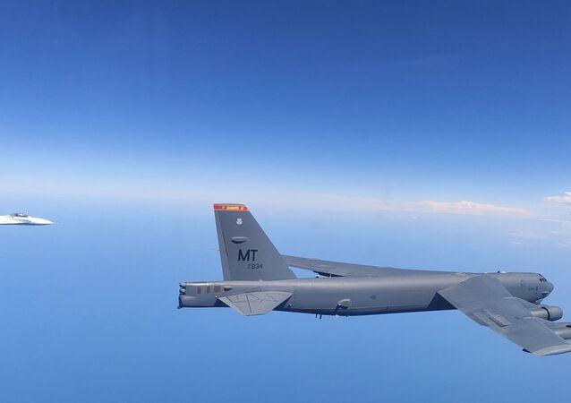 Russian Fighters Scrambled to Intercept US Bomber B-52H Over Black Sea
