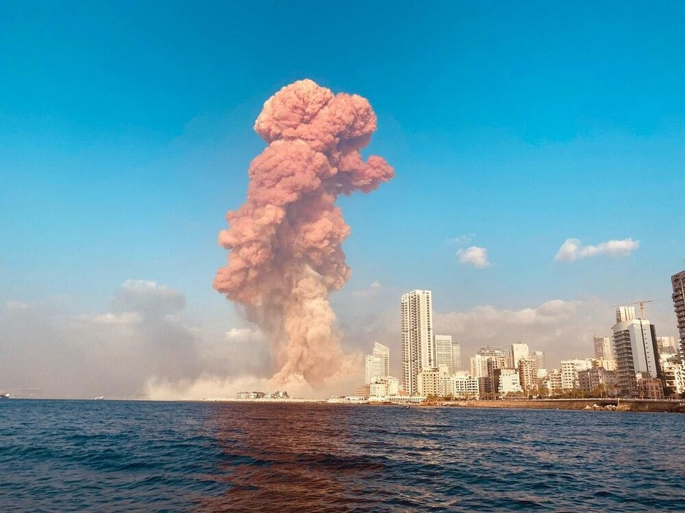 Explosion at the port of Beirut, Lebanon.