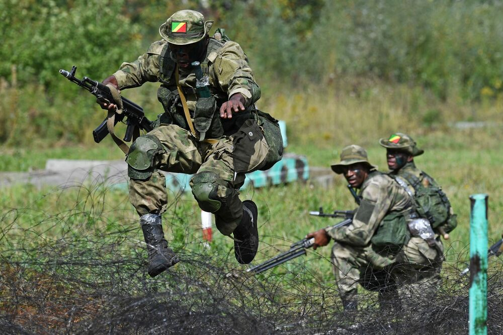 Soldiers of the Republic of Congo's army during the Army-2020 international competitions in Russia's Novosibirsk.