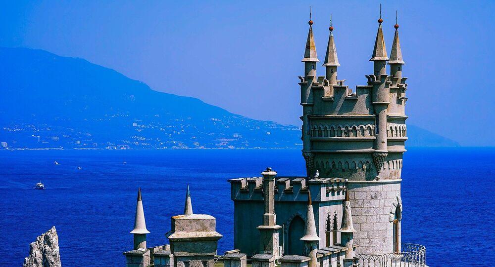 Swallow's Nest castle, Yalta, Crimea, Russia