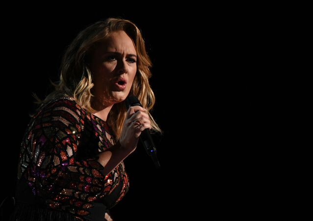 British singer Adele performs onstage during the 59th Annual Grammy music Awards on February 12, 2017, in Los Angeles, California
