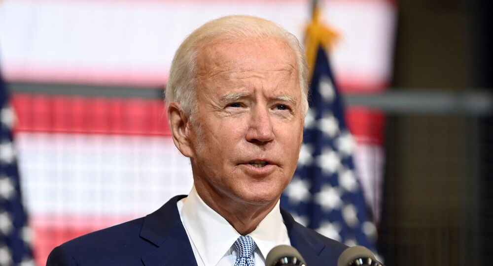 U.S. Democratic presidential nominee and former Vice President Joe Biden speaks about safety in America during a campaign appearance in Pittsburgh, Pennsylvania, U.S. August 31, 2020.