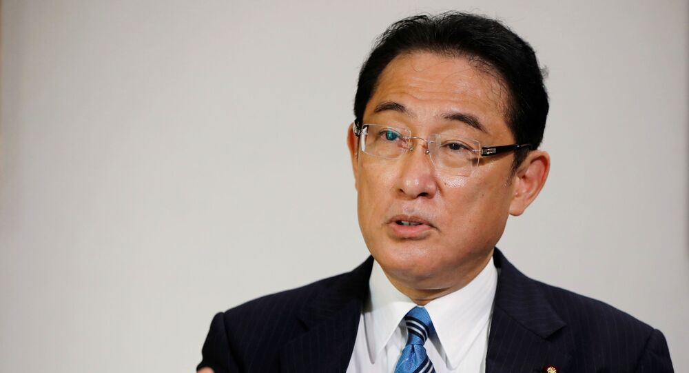 Fumio Kishida, policy chief of Japan's ruling Liberal Democratic Party (LDP) and former foreign minister, who has declared his candidacy for the party leadership election to choose the successor of Prime Minister Shinzo Abe, speaks during an interview with Reuters at LDP headquarters in Tokyo, Japan September 2, 2020.