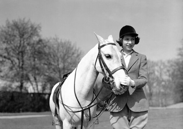Princess Elizabeth after her ride in Windsor Great Park, in England, on April 21, 1939.