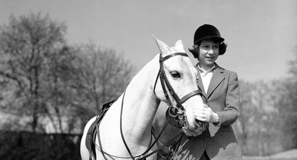 Princess Elizabeth after her ride in Windsor Great Park, in England, on April 21, 1939.