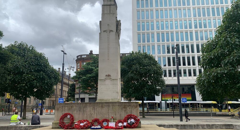 Manchester Cenotaph War Memorial in St Peter's Square