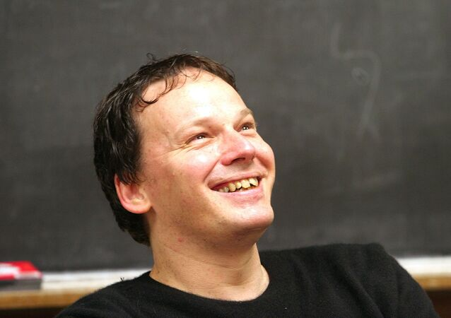 David Graeber, associate professor of anthropology at Yale University is shown during class Oct. 12. 2005 in New Haven, Conn.