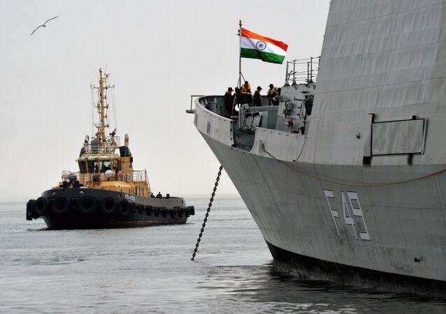 Indian frigate INS Sahyadri