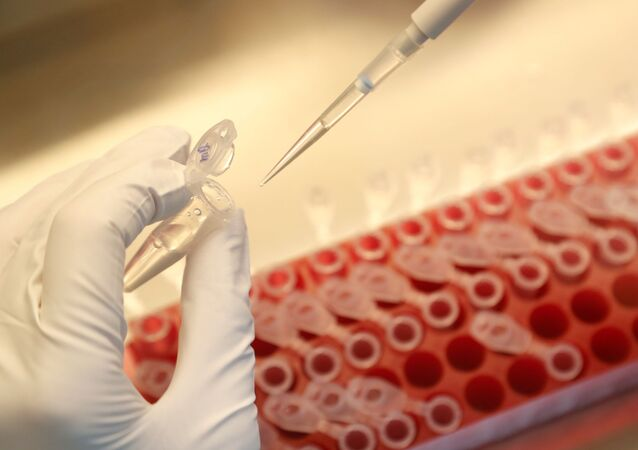 A scientist dilutes samples during the research and development of a vaccine against the coronavirus disease (COVID-19) at a laboratory of BIOCAD biotechnology company in Saint Petersburg, Russia June 11, 2020