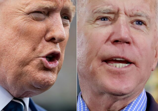 This combination of file photos created on March 4, 2020 shows US President Donald Trump(L) speaking to the media prior to departing from the White House in Washington, DC, on March 3, 2020, and Democratic presidential hopeful and former Vice President Joe Biden  at a Nevada Caucus watch party on February 22, 2020, in Las Vegas, Nevada, during the Nevada caucuses. - President Donald Trump on March 4, 2020 hailed Democrat Joe Biden's incredible comeback in the primaries race and signaled how he will attack the new frontrunner, saying he was surrounded by far leftists. It was a great comeback for Joe Biden, an incredible comeback when you think about it, Trump told reporters at the White House the morning after the Democrats' Super Tuesday polls. Biden is running as a moderate, in contrast to his leftist rival Bernie Sanders, but Trump insisted that some of the former vice president's handlers are further left than Bernie. That's pretty scary.