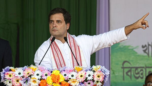 India's opposition Congress party leader Rahul Gandhi speaks at a rally against the Citizenship Amendment Act in Guwahati, India on Saturday, 28 December 2019. - Sputnik International
