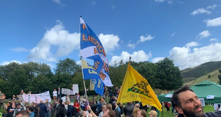 Scottish Libertarians demonstrate against lockdown in Edinburgh