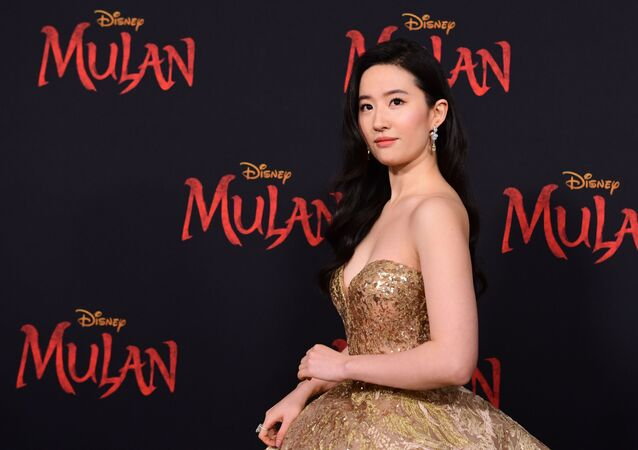 (FILES) In this file photo taken on March 9, 2020 US-Chinese actress Yifei Liu attends the world premiere of Disney's Mulan at the Dolby Theatre in Hollywood.