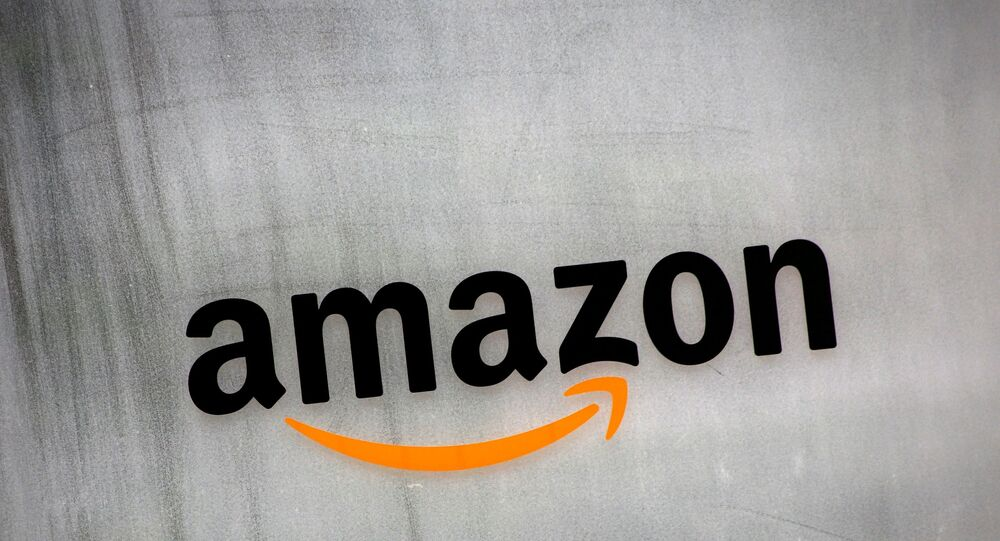 Amazon.com's logo is seen at Amazon Japan's office building in Tokyo, Japan, Aug. 8, 2016.