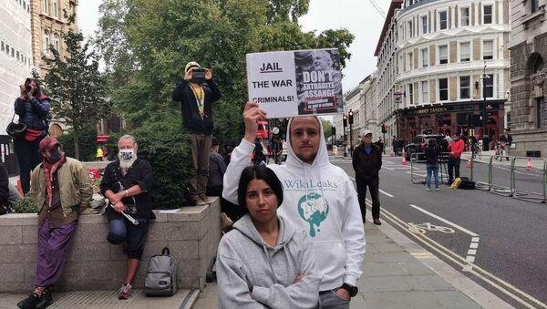 Assange Rally at Old Bailey in London, UK - Sputnik International