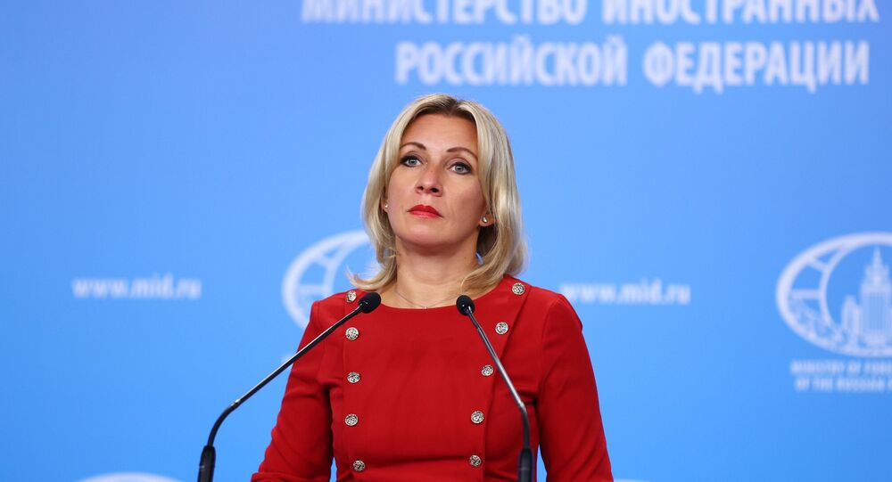 Russian Foreign Ministry spokeswoman Maria Zakharova during her briefing in Moscow