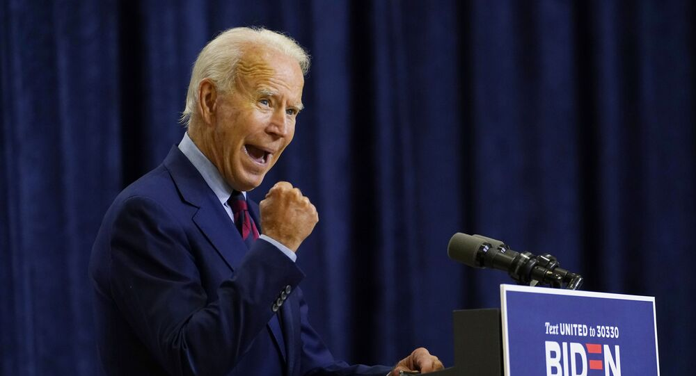 Democratic presidential candidate former Vice President Joe Biden speaks in Wilmington, Del., Friday Sept. 4, 2020