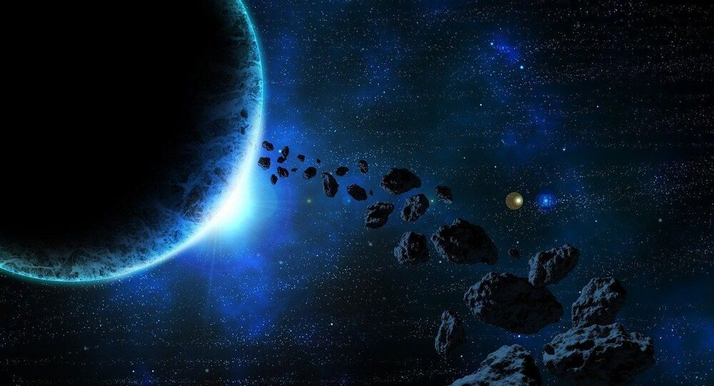 Space asteroid.