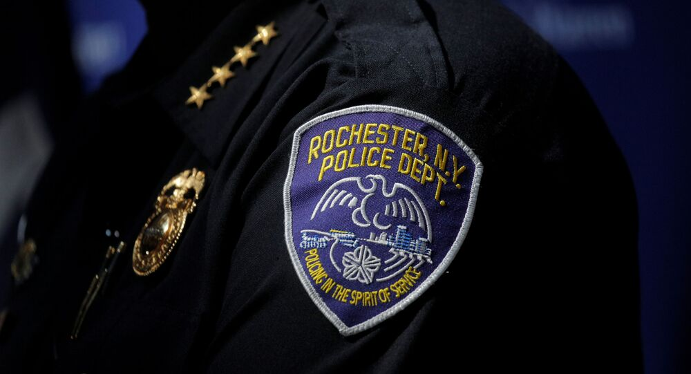 Rochester Police Chief, La'Ron Singletary speaks during a news conference regarding the protests over the death of a Black man, Daniel Prude, after police put a spit hood over his head during an arrest on March 23, in Rochester, New York, U.S. September 6, 2020.