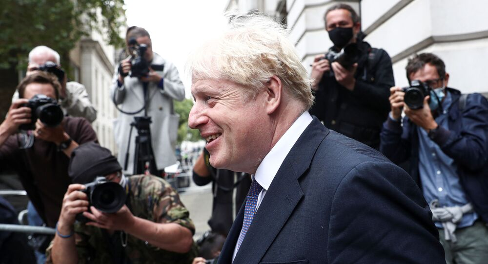 British Prime Minister Boris Johnson leaves a Cabinet meeting at Downing Street in London, Britain, September 8, 2020