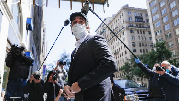 Michael Cohen arrives at his Manhattan apartment, Thursday, May 21, 2020, in New York. President Donald Trump's longtime personal lawyer and fixer was released federal prison Thursday and is expected to serve the remainder of his sentence at home. Cohen has been serving a federal prison sentence at FCI Otisville in New York after pleading guilty to numerous charges, including campaign finance fraud and lying to Congress.  - Sputnik International