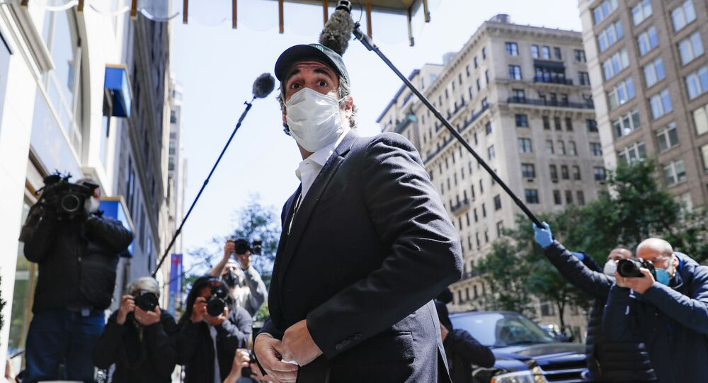 Michael Cohen arrives at his Manhattan apartment, Thursday, May 21, 2020, in New York. President Donald Trump's longtime personal lawyer and fixer was released federal prison Thursday and is expected to serve the remainder of his sentence at home. Cohen has been serving a federal prison sentence at FCI Otisville in New York after pleading guilty to numerous charges, including campaign finance fraud and lying to Congress.
