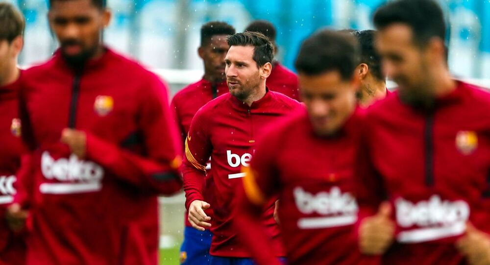 First workout of the day Lionel Messi