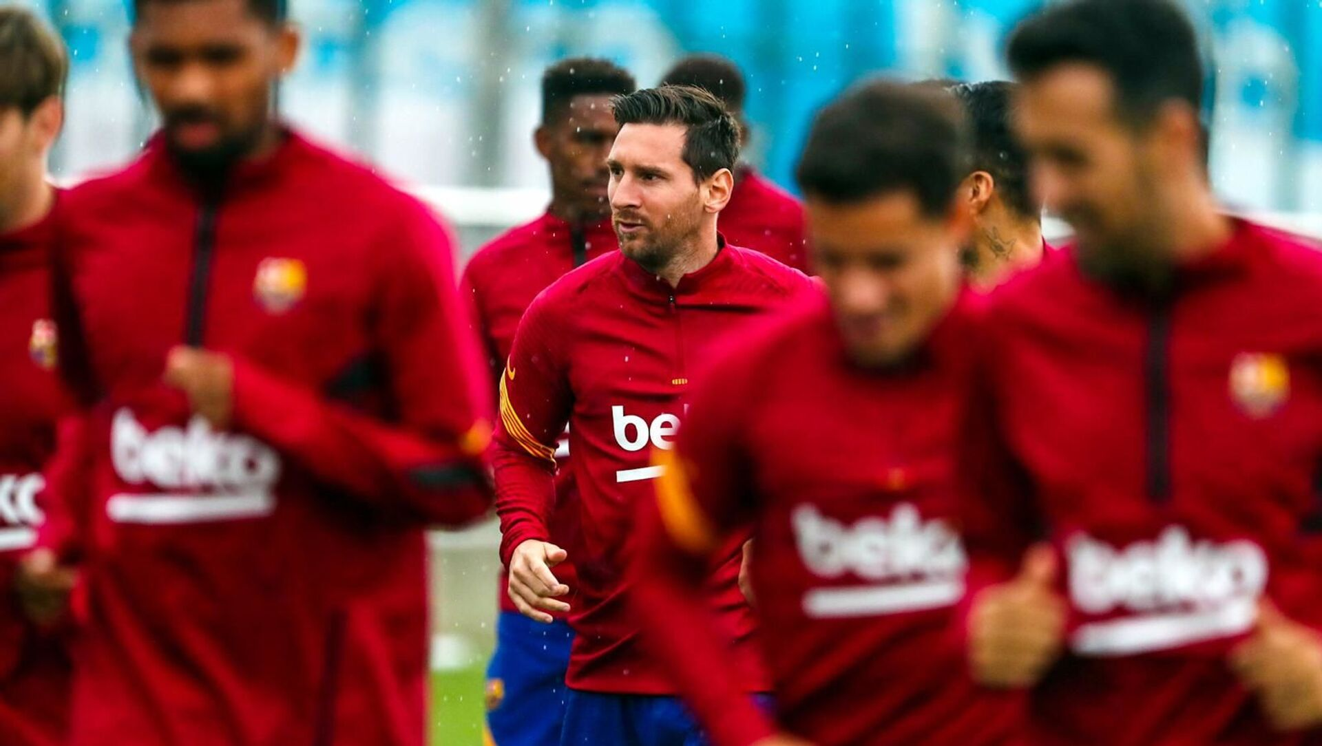 First workout of the day Lionel Messi - Sputnik International, 1920, 29.07.2021