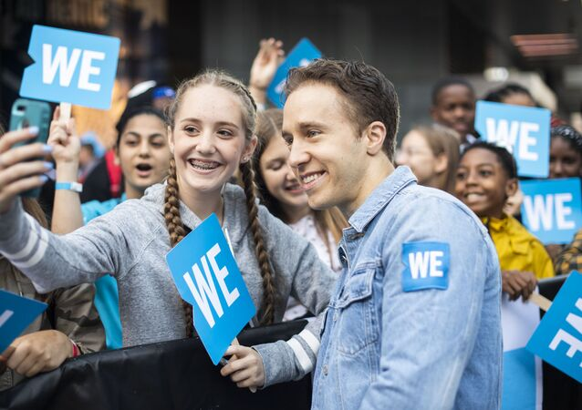 WE Charity co-founder Craig Kielburger walks the WE carpet during WE Day Toronto at the Scotiabank Arena on Thursday, Sept. 19, 2019, in Toronto.