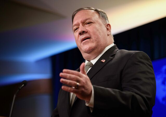 Secretary of State Mike Pompeo speaks during a news conference at the State Department in Washington, Wednesday, Sept. 2, 2020