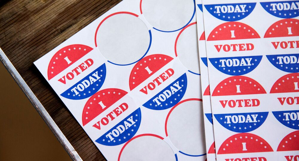 Stickers saying I Voted Today are given out to voters in the Democratic primary in Philadelphia, Pennsylvania, U.S., June 2, 2020
