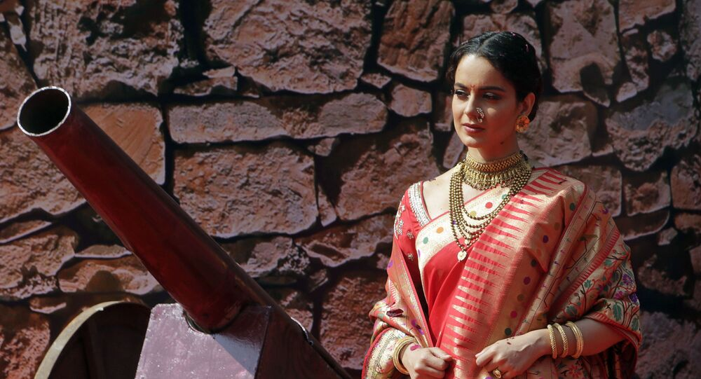 Bollywood actress Kangana Ranaut attends the trailer launch of her movie Manikarnika- The Queen of Jhansi in Mumbai, India, Tuesday, Dec.18, 2018.