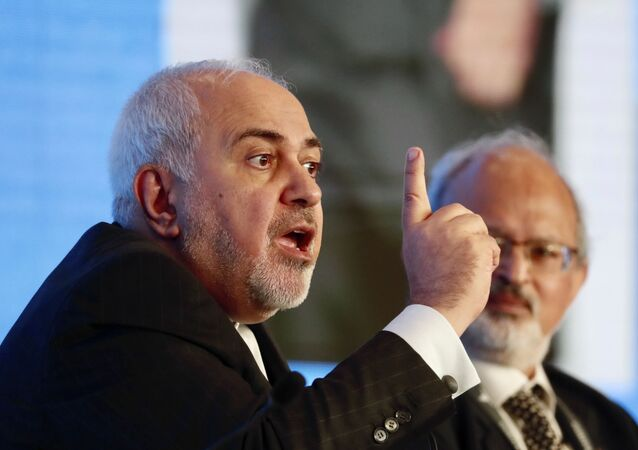 Iranian Foreign Minister Mohammad Javad Zarif speaks at the Raisina Dialogue 2020 in New Delhi, India, Wednesday, 15 January 2020. Zarif is in the country on a three-day visit