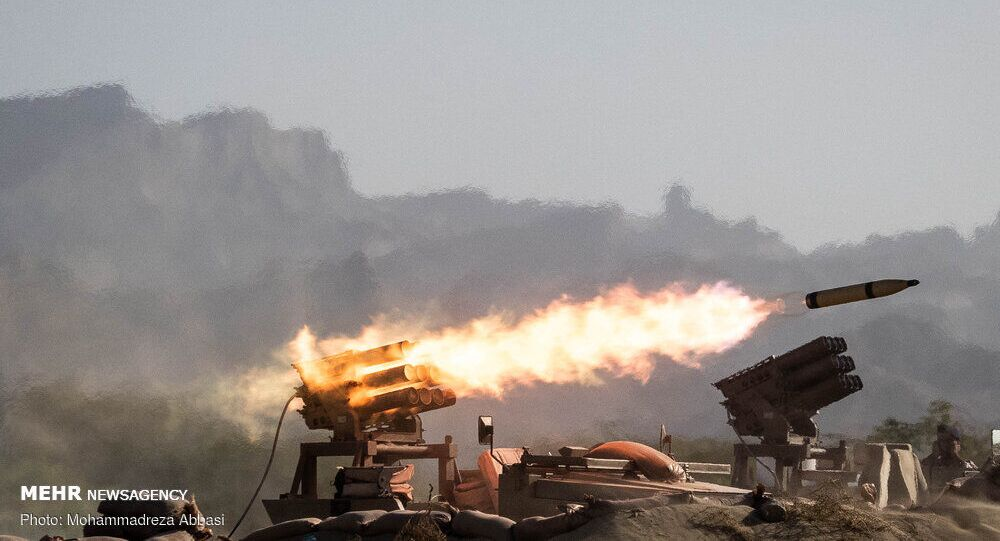 Photo from the first day of Iran's Zolfaqar-99 drills, September 10, 2020.