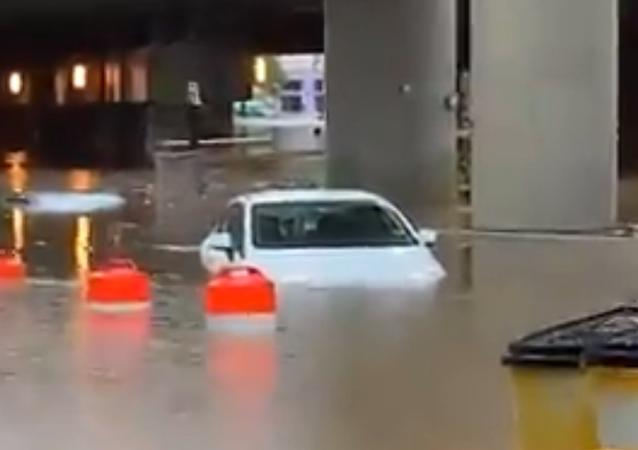 Heavy Rains Flood White House Basement, Submerge Roads Around Washington, DC