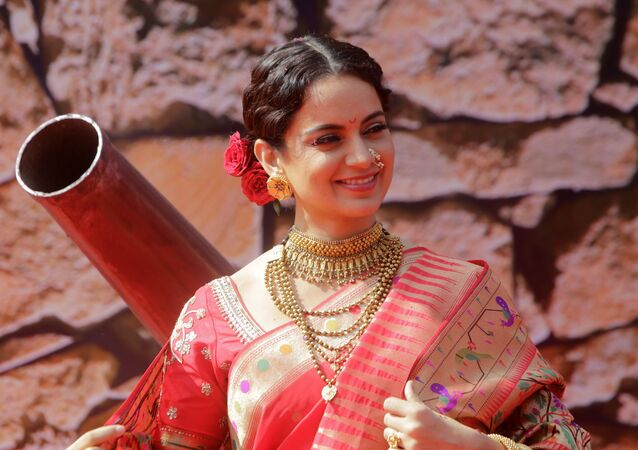 Bollywood actress Kangana Ranaut smiles during the trailer launch of her movie Manikarnika- The Queen of Jhansi in Mumbai, India, Tuesday, 18 December 2018.