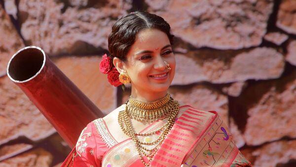 Bollywood actress Kangana Ranaut smiles during the trailer launch of her movie Manikarnika - The Queen of Jhansi in Mumbai, India, on Tuesday 18 December 2018. - Sputnik International