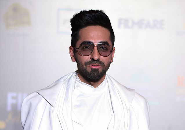 In this picture taken on December 3, 2019  Bollywood actor Ayushmann Khurrana arrives at the Filmfare Glamour and Style Awards in Mumbai