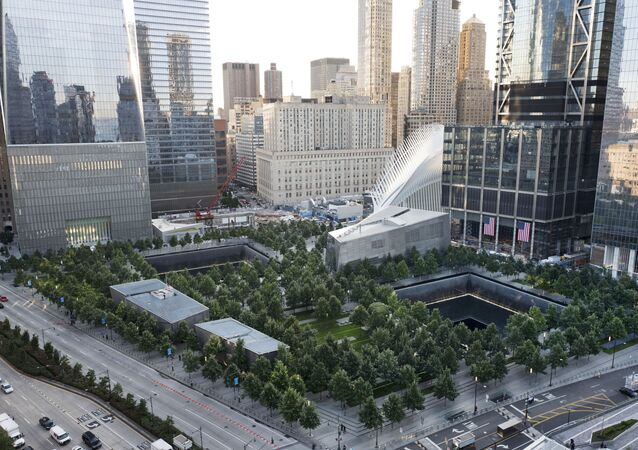 The National September 11 Memorial and Museum are set for a memorial service, Monday, Sept. 11, 2017, in New York. Thousands of 9/11 victims' relatives, survivors, rescuers and others are expected to gather Monday at the World Trade Center to remember the deadliest terror attack on American soil. Nearly 3,000 people died when hijacked planes slammed into the trade center, the Pentagon and a field near Shanksville, Pa., on Sept. 11, 2001.
