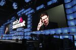 Former U.S. National Security Agency contractor Edward Snowden addresses attendees through video link at the Web Summit technology conference in Lisbon, Monday, Nov. 4, 2019. Snowden has been living in Russia to escape U.S. prosecution after leaking classified documents detailing government surveillance programs