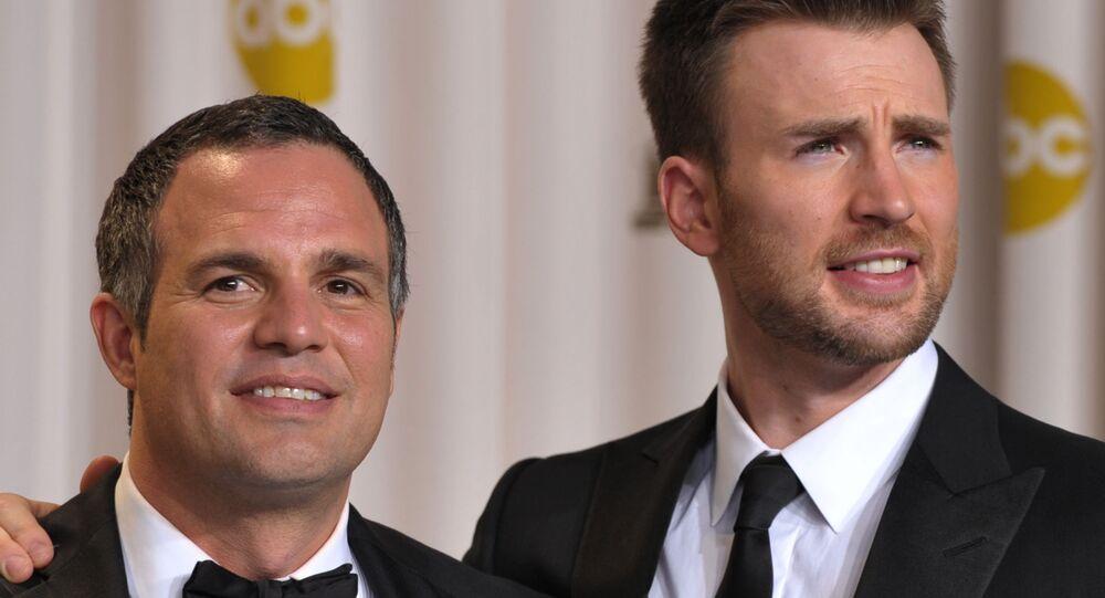Mark Ruffalo, left, and Chris Evans
